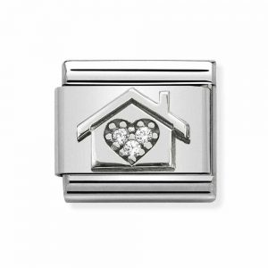Nomination Silvershine House with CZ Heart Charm 330311/11