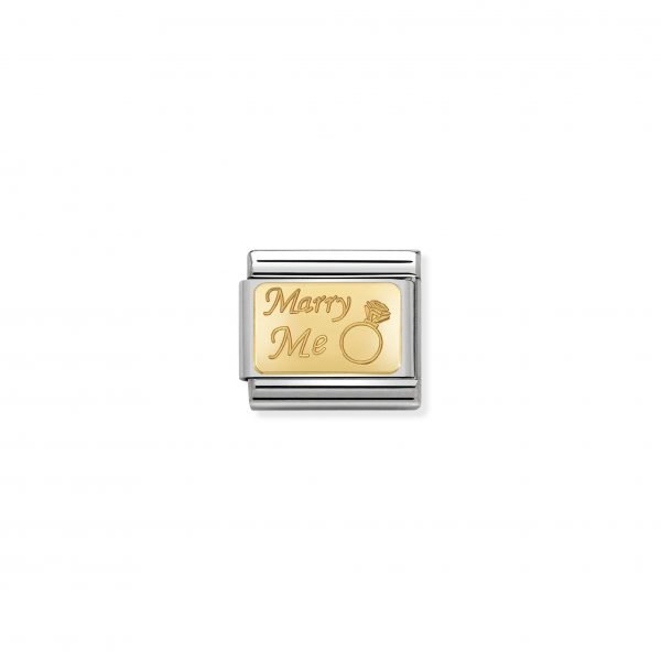 Nomination Classic Gold Marry Me Charm 030121/44