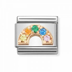 Nomination Rose Gold Rainbow with CZ Charm 430302/32