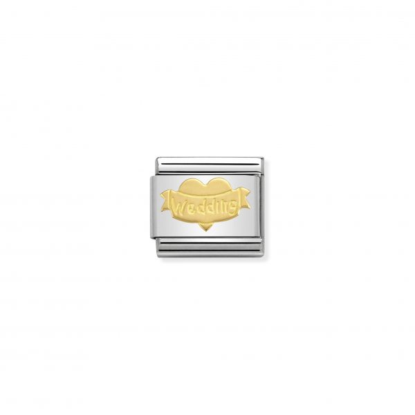 Nomination Classic Gold Wedding Heart Charm 030162/32