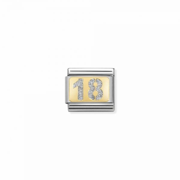 Nomination Gold 18 with Glitter Charm 030224/01