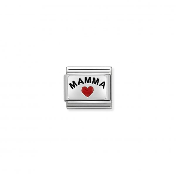 Nomination Classic Silvershine Mamma with Heart Charm 330208/34