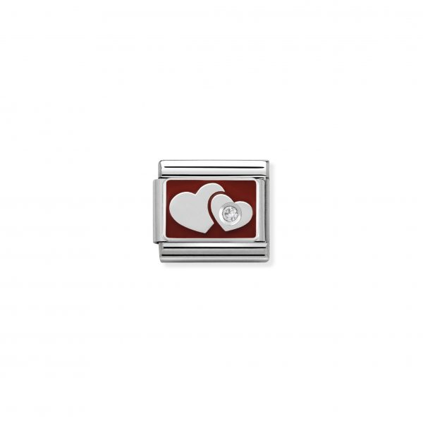 Nomination Classic Silvershine Hearts with CZ Charm 330317/01