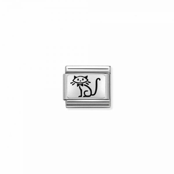Nomination Classic Silvershine Kitten Charm 330109/53