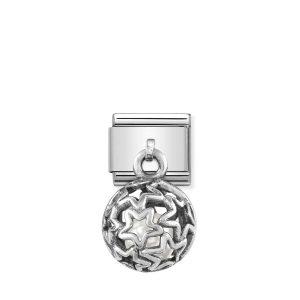 Nomination Silvershine Stars with White Swarovski Pearl Charm 331810/07